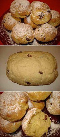 Творожные булочки с изюмом