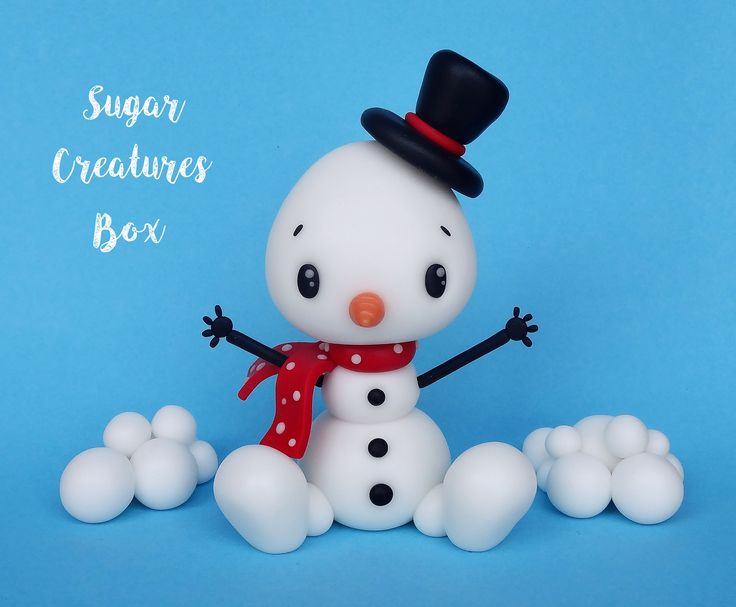 Bałwanek - figurka na tort Snowman cake topper