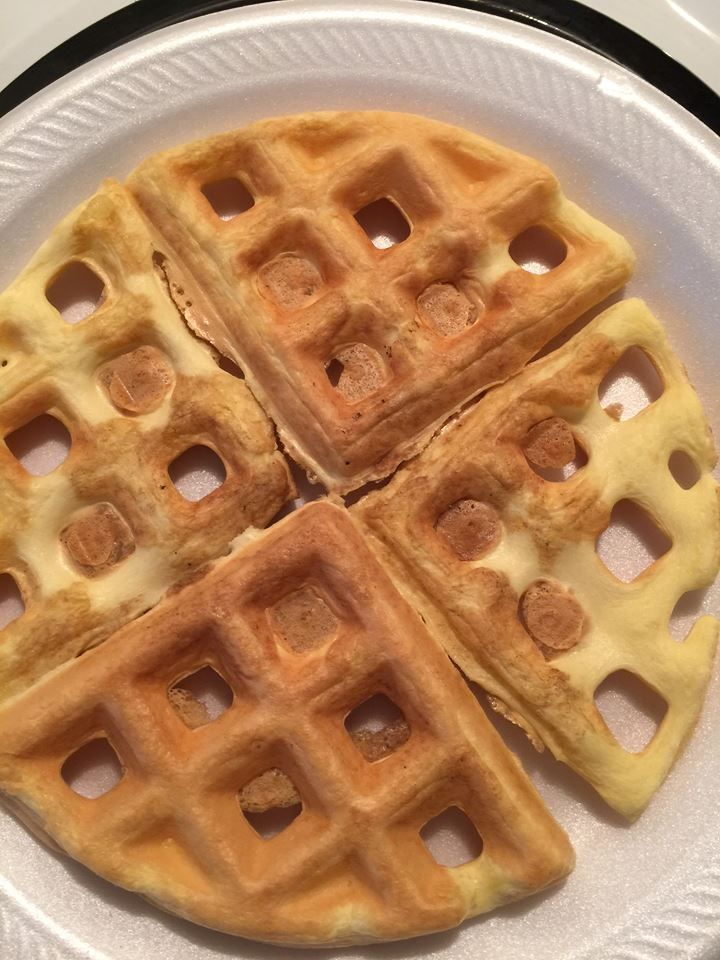 Ohh My Word!! So, I finally figured out a ZERO CARB WAFFLE. Yes, I did!! This is easy, amazing and ohh so good! I added a little butter and some sugar free syrup for a total of 2 carbs for this hug...