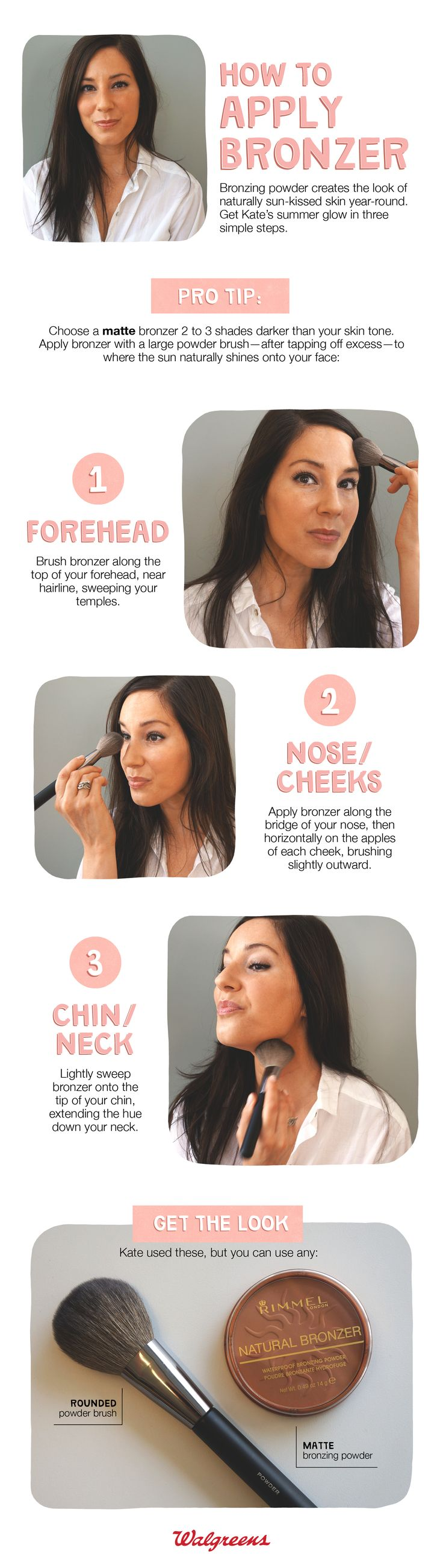 How to apply bronzer.