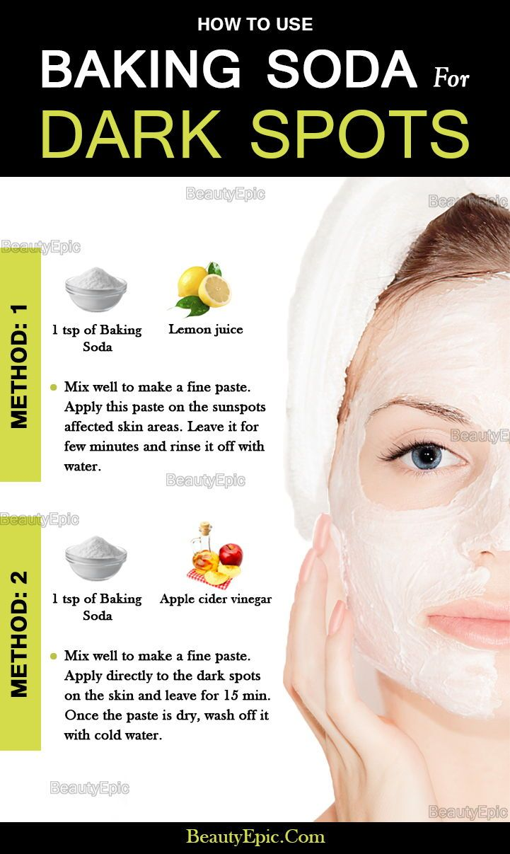 Baking Soda for Dark Spots Dark spots on skin, Skin