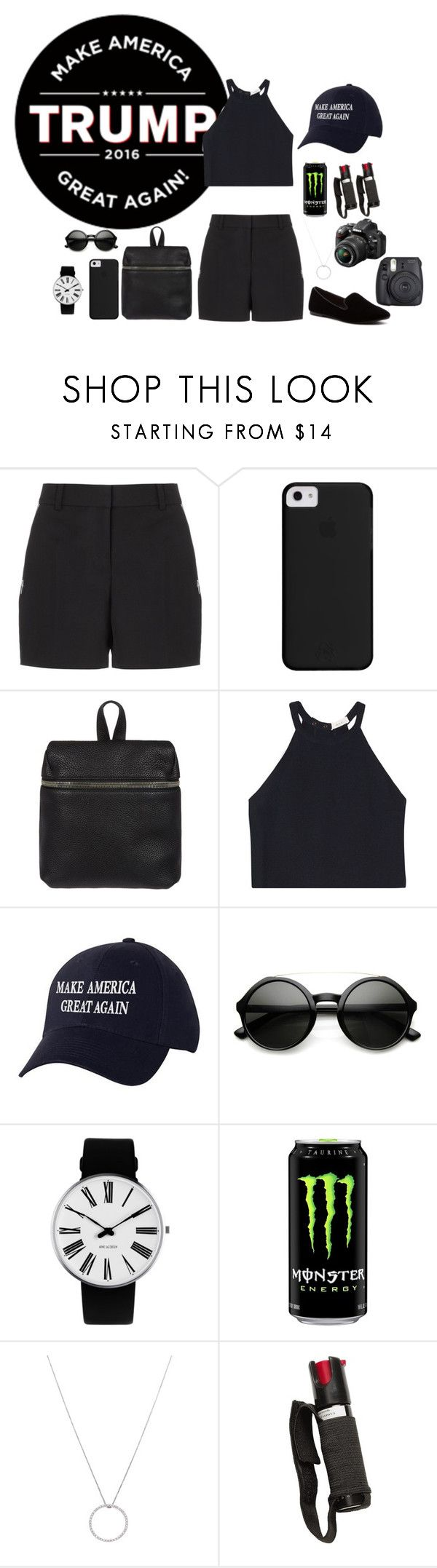 """""""Trump Rally"""" by aestheticbeauty666 ❤ liked on Polyvore featuring Trump Home, Alexander Wang, Kara, A.L.C., ZeroUV, Rosendahl, UNIONBAY, Roberto Coin, POLICE and Nikon"""