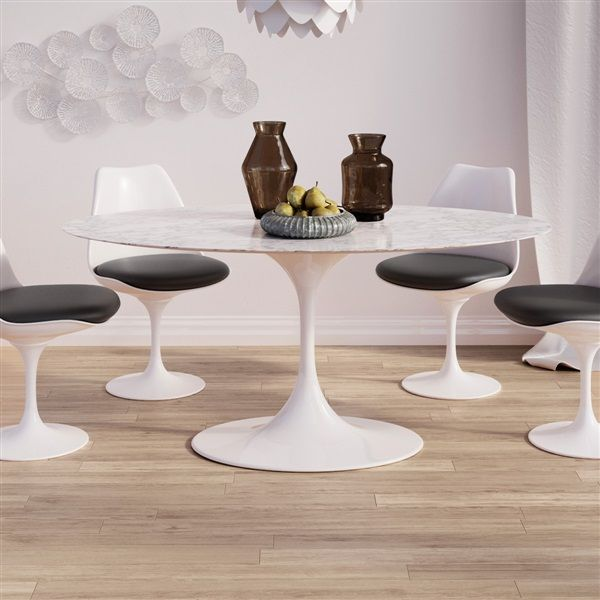Saarinen Tulip Oval Marble Dining Table Oval Marble Dining