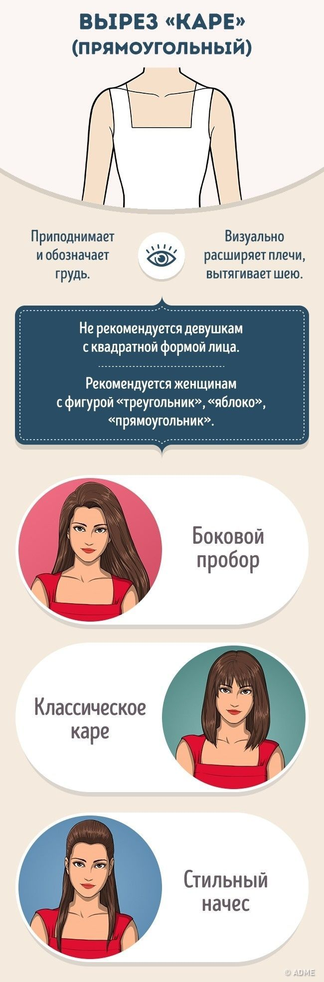 Как правильно сочетать прическу ивырез наплатье