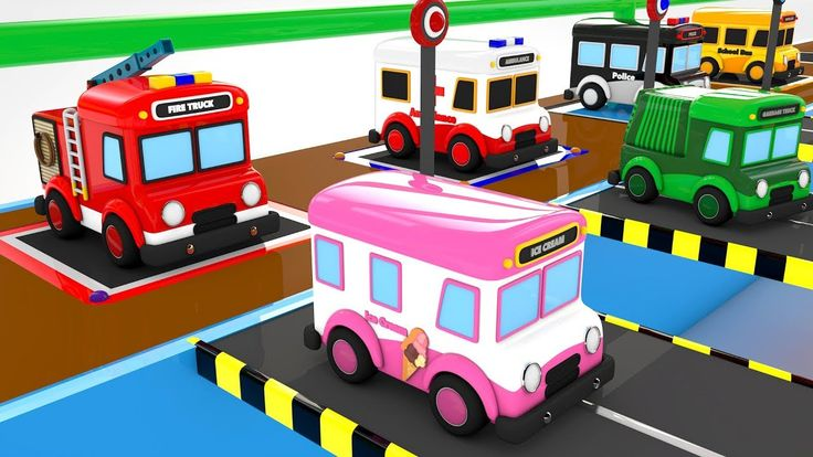 Colors for Children to Learn with Emergency Vehicles Under Ground Parkin...