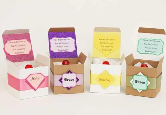 Bridesmaids proposal ideas: ring pops