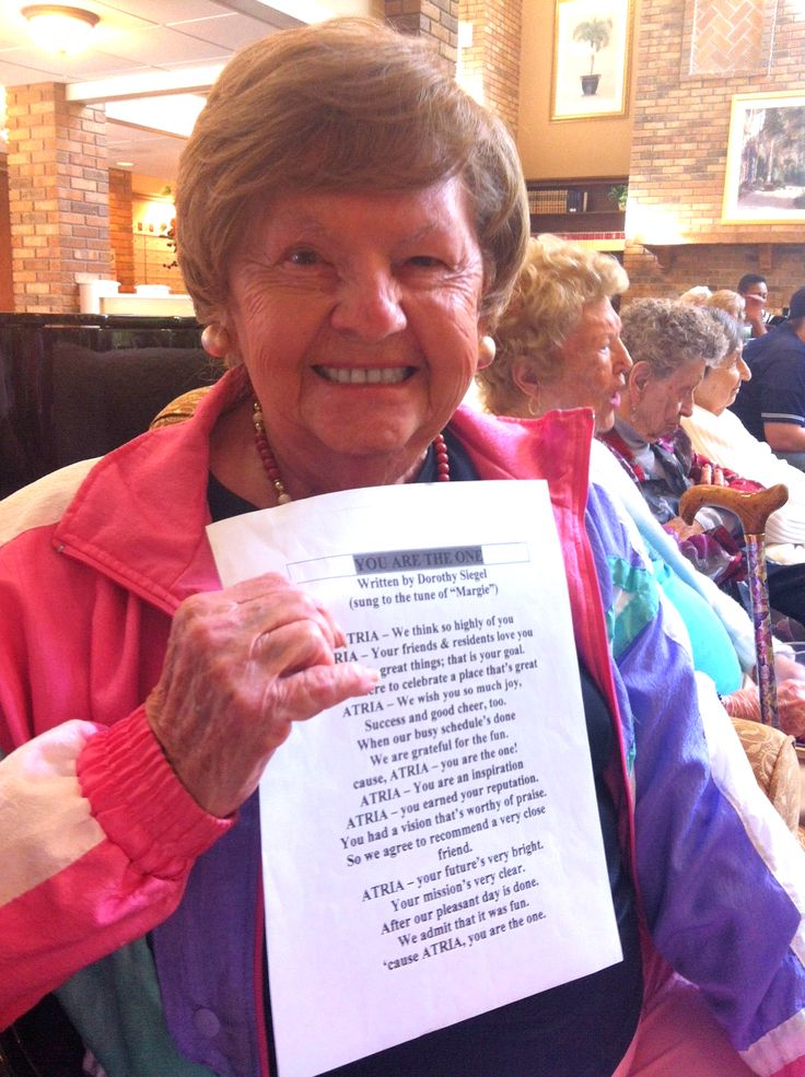 Atria Meridian Resident Writes Song about Atria Senior Living | See the lyrics on Atria's Blog Wit and Wisdom