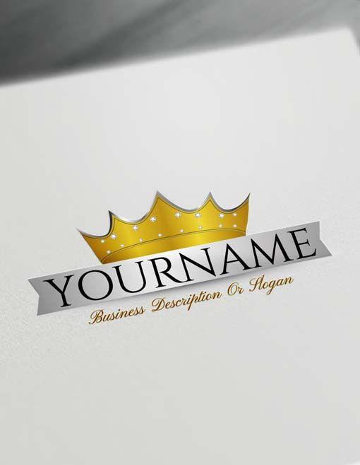 Free Logo Creator Royal Diamond Crown Logo Maker