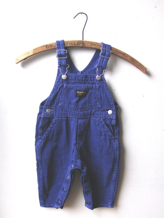 Vintage Baby Stripped Purple Blue Overalls Osh Kosh by The Cub Club @King of the Beasts