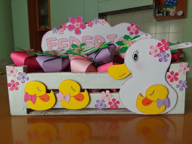 Cassettina porta scatoline per una nascita