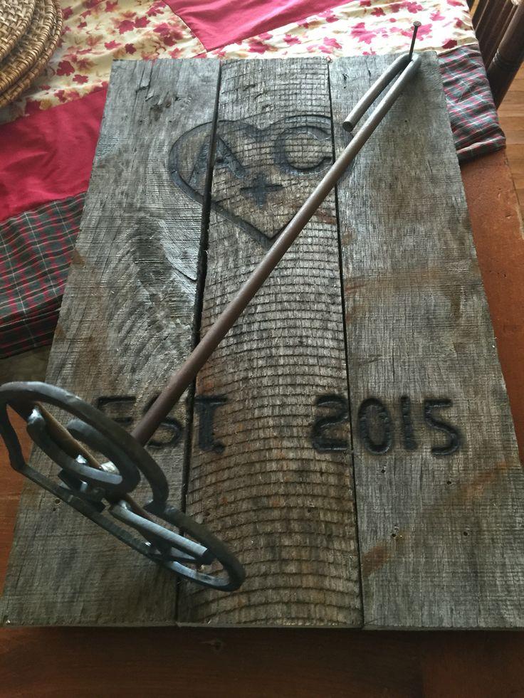 Wedding gift branding iron.