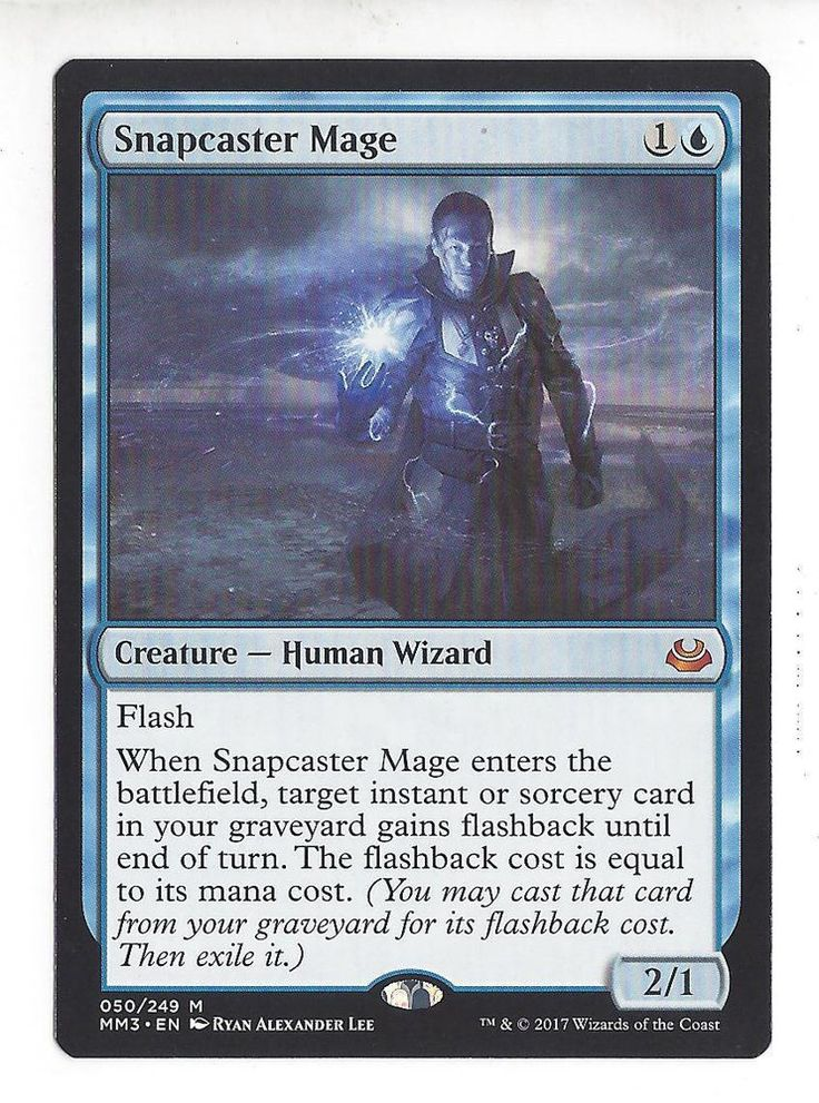 2017 Magic the Gathering Modern Masters - Snapcaster Mage Mythic Rare Card #WizardsoftheCoast @wizards_magic