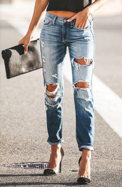 Broken Knees And Jeans