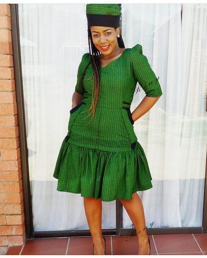Cinderella Shweshwe Dress: Shweshwe Fashion 2019 To Looking Good