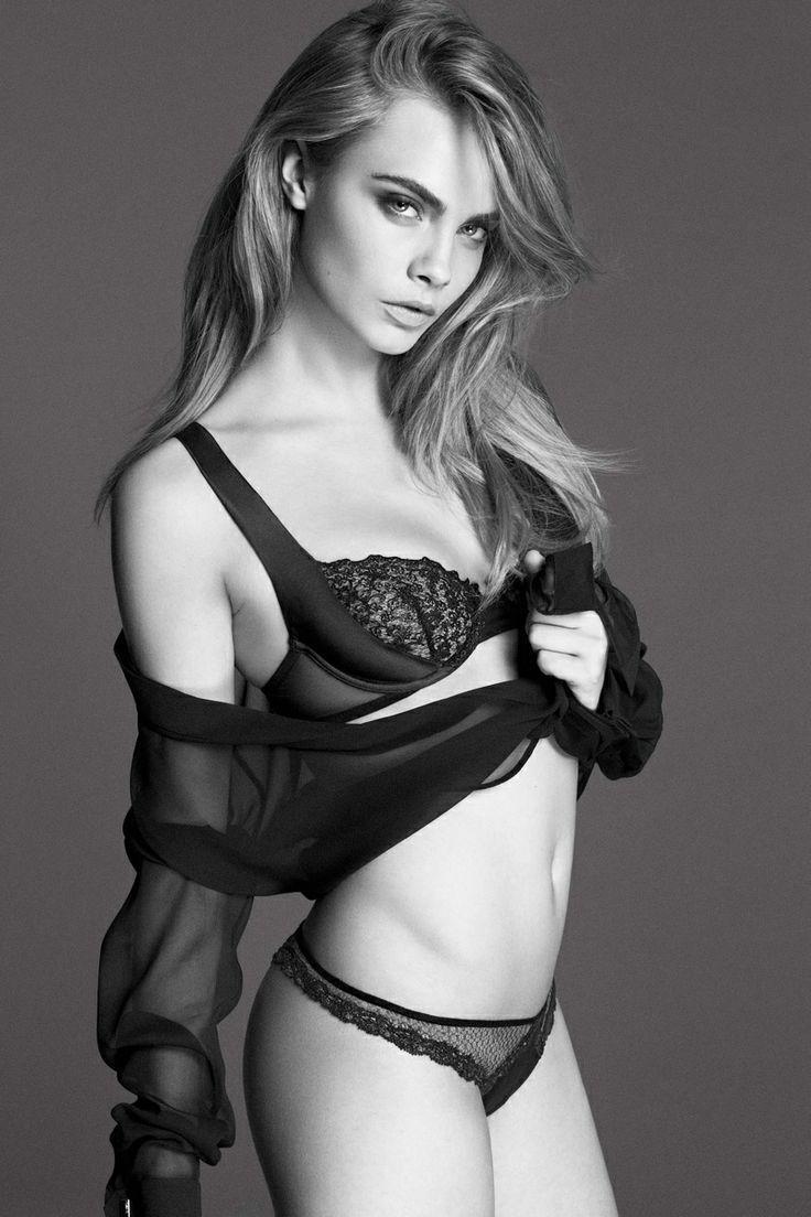 Black face app - Model Cara Delevingne In Lingerie In Black White I Love Black White Photography