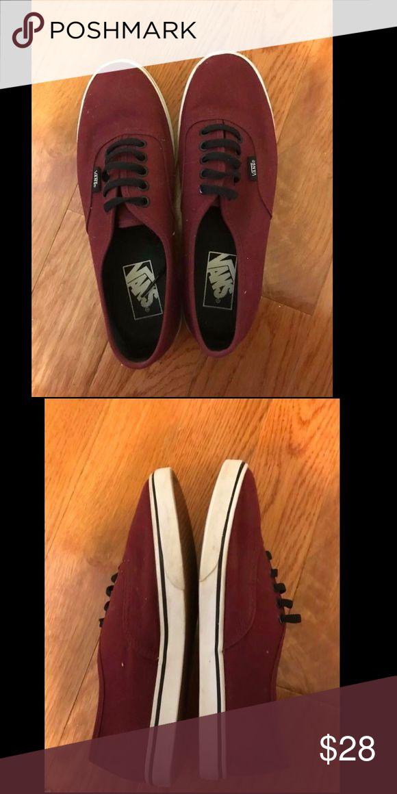 Maroon Vans, great condition! maroon vans that have rarely been worn! size 7.5 girls Vans Shoes Sneakers