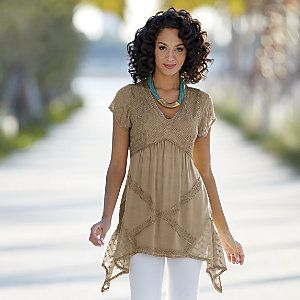 Acid Wash Tunic from Monroe and Main | WI719421