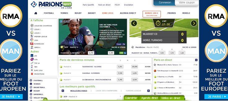Le bookmaker Parions Sport en Ligne, inscription et promotion sur #ParionsSport.  http://wallabet.fr/bookmakers/parionsweb/