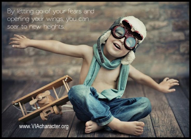 By letting go of your fears and opening your wings, you can soar to new heights.  #bravery #Viastrengths #courage