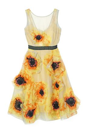 Tracy Reese Vincent Van Gogh Sunflower Dress