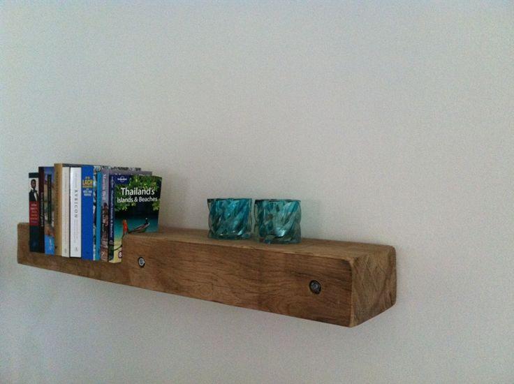 Solidus eikenhouten boekenplank steun zwevend massief eiken balk