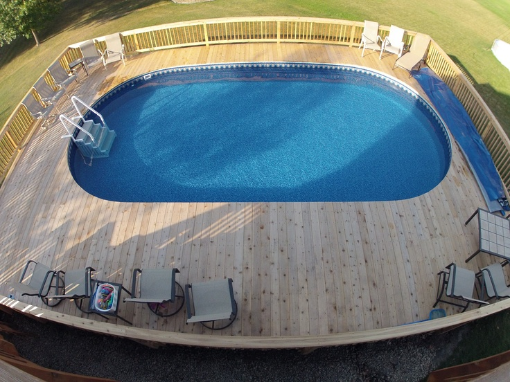 Finished Metric Oval Pool.