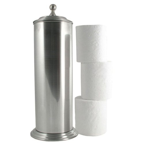 Ashton extra toilet paper roll holder storage bin lid for Loo roll storage