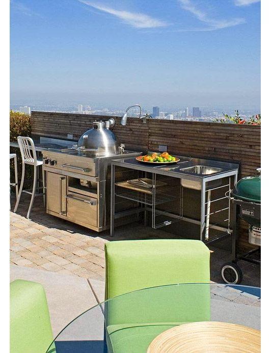 Outdoor kitchen idea home and garden design ideas for Outdoor summer kitchen grills