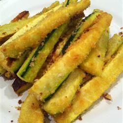 Oven Baked Zucchini Fries - no egg in the recipe!
