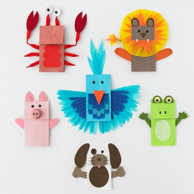 Paper bag puppets: Crafts Ideas, Paper Bags Crafts, Kids Crafts, Bags Animal, Hands Puppets, Preschool Crafts, Animal Crafts, Paperbag, Paper Bags Puppets