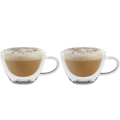 Luigi Bormioli Thermic Double-Wall Cappuccino Mugs (Set of 2) - BedBathandBeyond.com