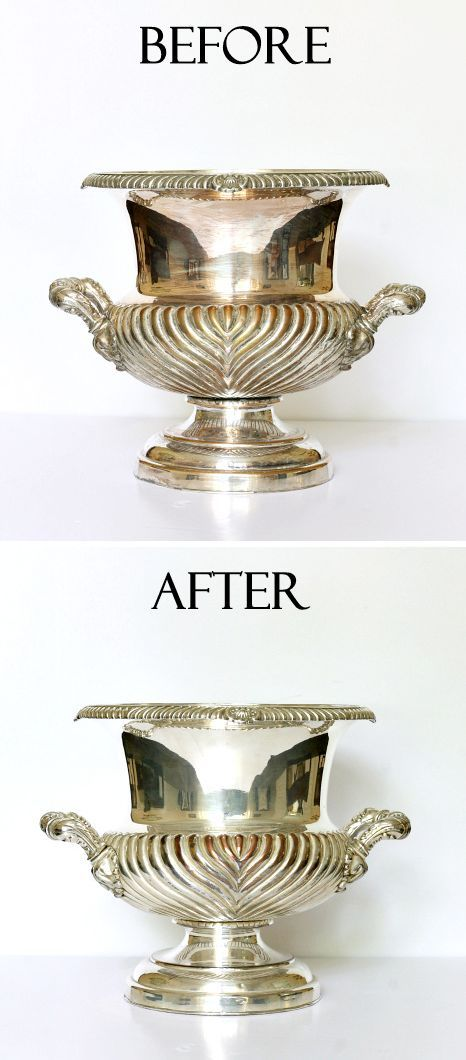 Cleaning Silver: Line sink with aluminum foil. Fill sink with hot water, ½ C salt and ½ C baking soda. Stir. 5 minutes to clean silver.