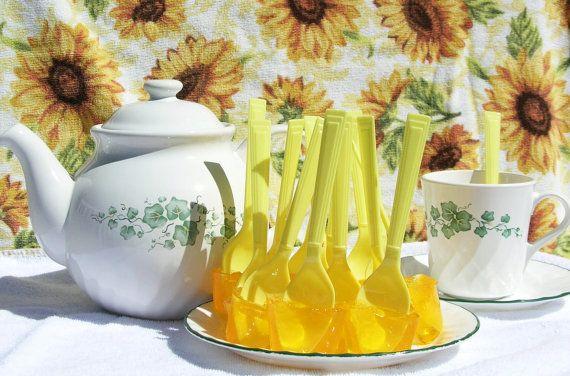Tea Stir Stick Spoons With Honey Or Lemon Or Cinnamon