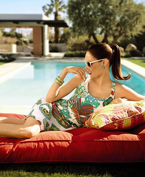 Coco Rocha in the Slim Aarons style photoshoot, advertising for Banana Republic & Trina Turk collabTrina Turk, Turk Collection, Fashion Style, Cocorocha, Palms Spring, Coco Rocha, Banana Republic, Bananas Republic, Bananarepublic