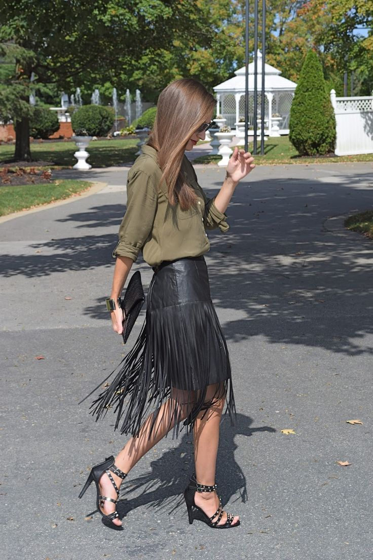 Wearing Target Mossimo Faux Leather Fringe Skirt Hide