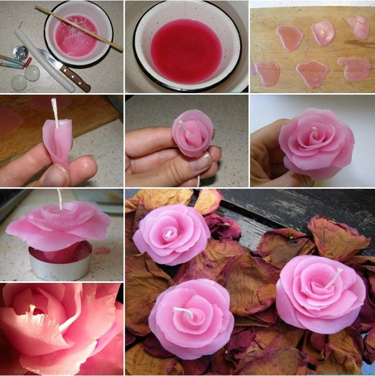 How Amazing and Easy Are These Rose Candles - http://www.amazinginteriordesign.com/amazing-easy-rose-candles/