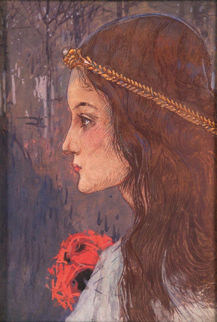 Ophelie by Gustav Adolf Mossa c.1909