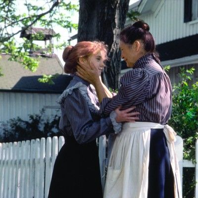 Anne Shirley and Marilla Cuthbert at Green Gables, played by Megan Follows and Colleen Dewhurst.
