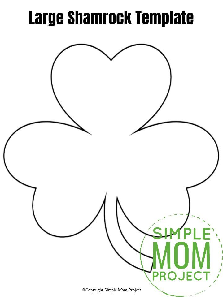 Free Printable Shamrock Templates In Small Medium And Large