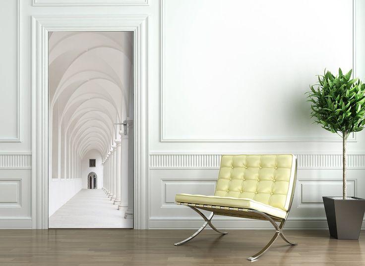 t rtapete selbstklebend t rposter arkaden fototapete. Black Bedroom Furniture Sets. Home Design Ideas