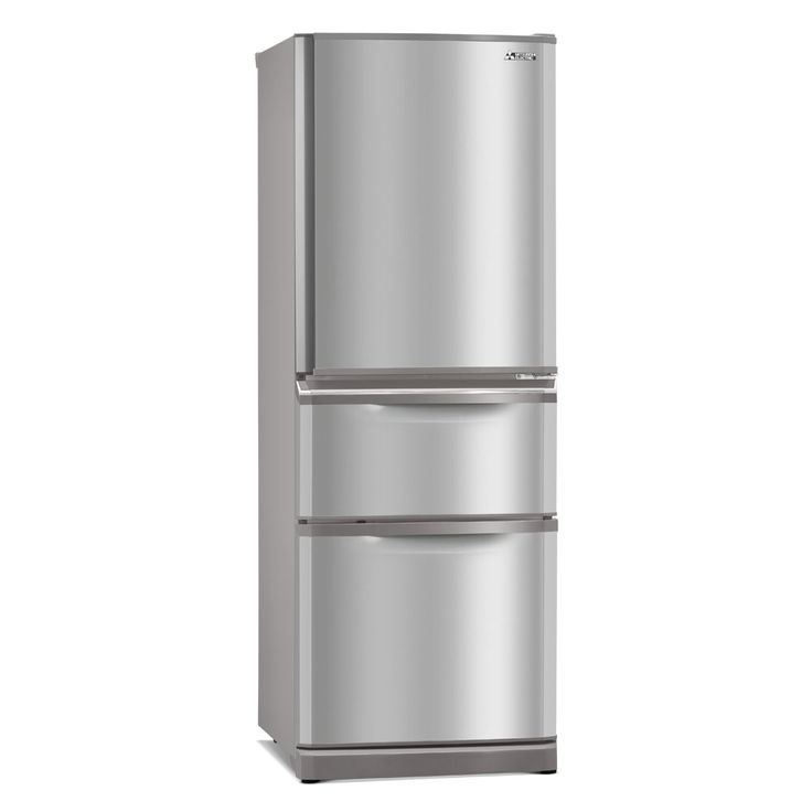 MR-C375G-ST-A Connoisseur Two Drawer 375 Refrigerator // Mitsubishi Electric Fridge