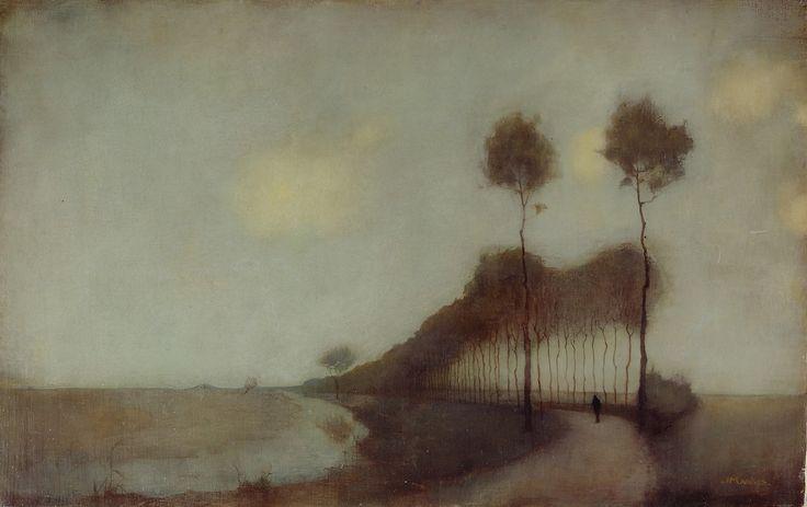 wetreesinart:  Jan Mankes (Dutch, 1889-1920),Woudsterweg bij Oranjewoud,1912, huile sur toile, 31 x 49cm,Arnhem,MuseumVoor Moderne Kun...