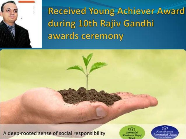 Received Young Achiever Award during 10th Rajiv Gandhi awards ceremony in the year of 2011, #kushagra_bajaj was also nominated for Padma Shri Award by Indian Government,