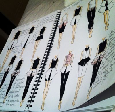 Fashion drawings- sketchbook ideas