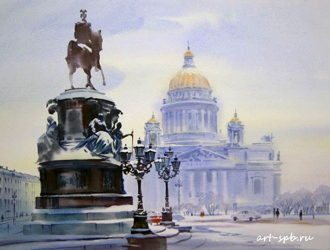 Watercolor by Olga Litvinenko