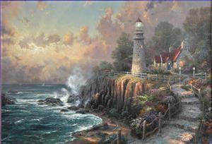 5 The Light Of Peace Thomas Kinkade oil paintings