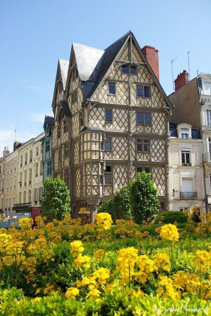 Maison d'Adam, Angers, France Discover more about Angers as a cultural destination here: http://travel.oohmyworld.com/2014/01/28/my-hometown-angers-a-city-to-discover/