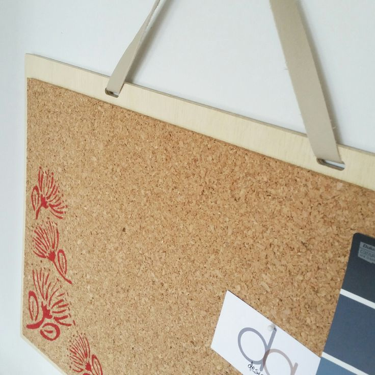 Pohutakawa design corkboard