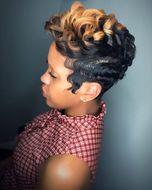 Awesome Short Black Hairstyles With Color 4 Short Hair Styles Hair Styles Sassy Hair