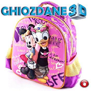 Ghiozdan Disney 3D pentru stangaci Model fetite cadou sticla de apa